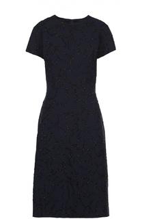 Приталенное платье-миди с вышивкой бисером Escada