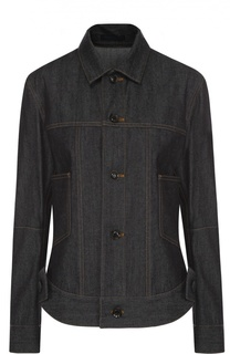 Джинсовая куртка прямого кроя с контрастной прострочкой Yohji Yamamoto