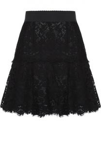Кружевная мини-юбка с широким поясом Dolce & Gabbana