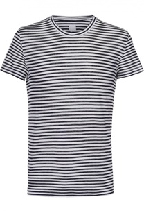 Льняная футболка в контрастную полоску 120% Lino