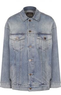Джинсовая куртка прямого кроя с накладными карманами Roberto Cavalli