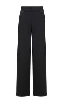 Шерстяные широкие брюки с декоративной шнуровкой Ralph Lauren