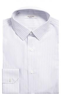 Хлопковая сорочка в полоску Valentino