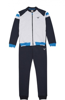 Спортивный костюм из эластичного хлопка Giorgio Armani