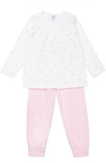Пижама из хлопка с принтом Sanetta