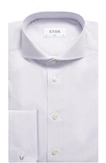 Хлопковая приталенная сорочка с воротником акула Eton