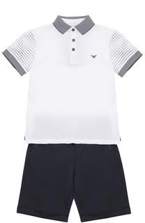 Комплект из футболки и шорт Giorgio Armani