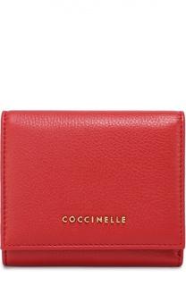 Кожаное портмоне на кнопке Coccinelle