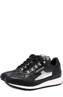 Кожаные кроссовки Dean Goes Hiking с контрастной отделкой Dsquared2