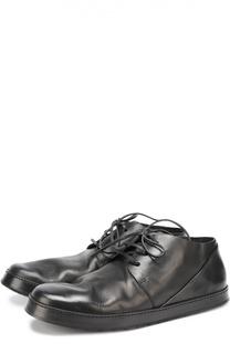 Кожаные ботинки с круглым мысом Marsell