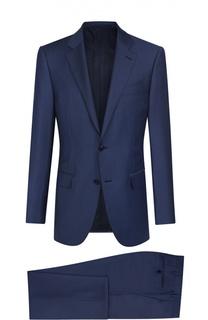 Шерстяной приталенный костюм в полоску Ermenegildo Zegna