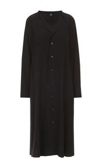 Платье-рубашка прямого кроя с отложным воротником Yohji Yamamoto