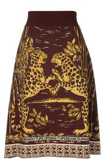 Вязаная юбка А-силуэта с принтом Valentino