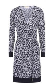 Платье-миди с запахом и цветочным принтом MICHAEL Michael Kors