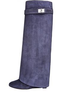 Замшевые сапоги Shark Lock Givenchy