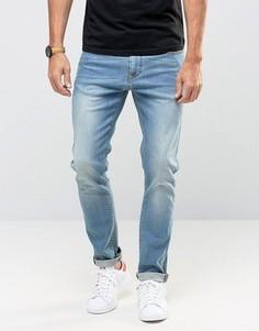 Зауженные джинсы с потертостями ASOS - Синий