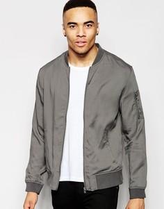 Серая куртка-пилот New Look - Серый