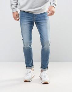 Голубые джинсы скинни ASOS - Синий
