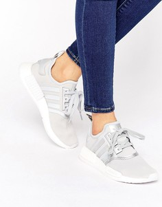 Серые кроссовки с полосками по бокам adidas Originals - Серый