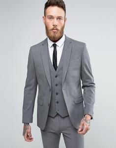 Серый узкий пиджак New Look - Серый