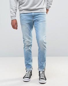 Голубые зауженные джинсы из ткани плотностью 12,5 унций ASOS - Синий