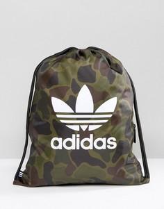 Спортивный рюкзак с камуфляжным принтом adidas Originals BK7213 - Мульти