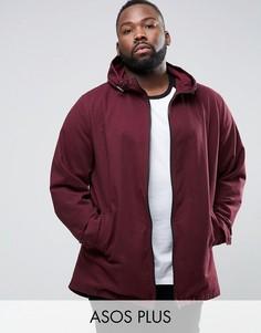 Легкая бордовая куртка-парка ASOS PLUS - Красный
