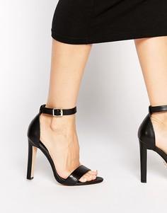 Легкие черные кожаные босоножки на каблуке Windsor Smith Desiree - Черный