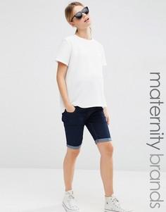 Джинсовые шорты для беременных New Look Maternity - Синий