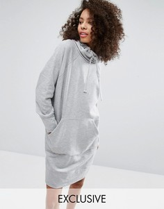 Monki High Neck Sweat Dress - Серый