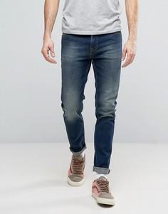Темно-синие джинсы скинни ASOS - Синий