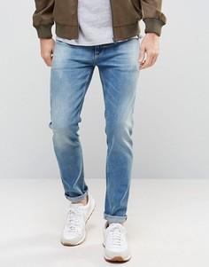 Зауженные винтажные джинсы ASOS - Синий