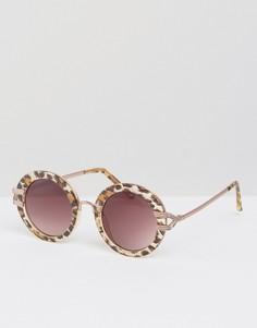 Круглые солнцезащитные очки Somedays Lovin - Коричневый
