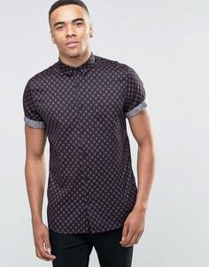 Рубашка с принтом New Look - Темно-синий