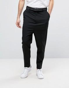 Черные брюки с заниженным шаговым швом ASOS - Черный