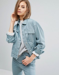 Oversize-куртка из денима Waven Karin - Зеленый