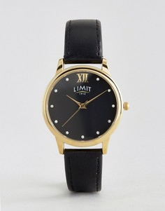 Limit Black Face & Leather Watch 6207.37 - Черный