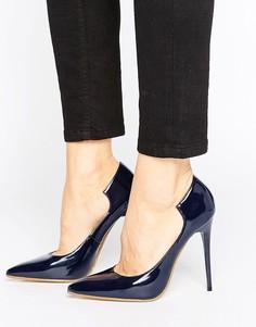 Темно-синие туфли-лодочки Lost Ink Freya - Темно-синий
