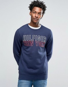 Hilfiger Denim Crew Neck Sweatshirt With Logo - Темно-синий