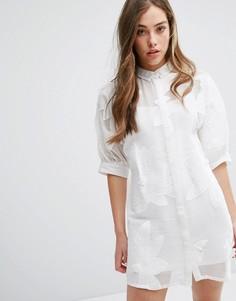 Платье на пуговицах Little White Lies Avia - Белый