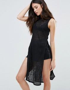 Платье без рукавов First & I - Черный
