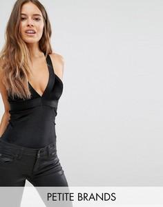 Бархатное боди Vero Moda Petite - Черный