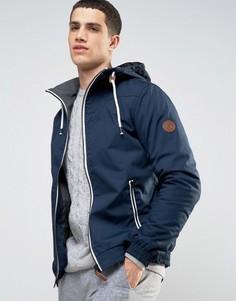 Куртка с капюшоном Solid - Темно-синий