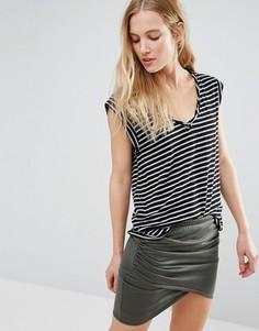 Обтягивающая футболка в полоску Pam & Gela Kate - Черный