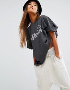 Oversize-футболка с логотипом Ellesse - Серый