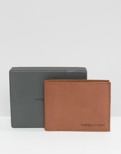 Светло-коричневый кожаный бумажник Forbes & Lewis - Рыжий