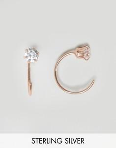 Серебряные серьги-кольца с покрытием из розового золота ASOS - Медный