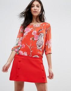 Цельнокройное платье с цветочным принтом Traffic People - Красный