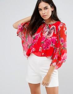 Блузка с цветочным принтом Traffic People - Красный