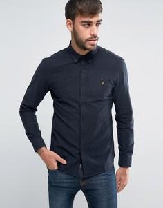 Темно-синя узкая оксфордская рубашка Farah - Темно-синий